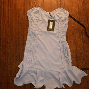 PrettyLittleThing Dusty Blue Bodycon Dress (new)